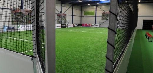 Kunstgras indoor voetbalveld
