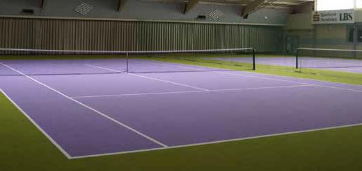 Voorbeeld kunstgras tennisbaan